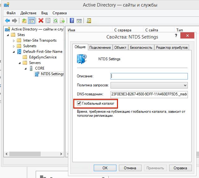 оснастки Active Directory